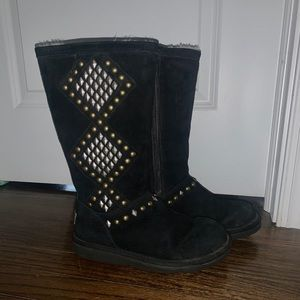 Gold and Silver Studded UGG boots